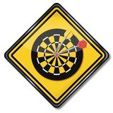 Sign darts game. In indoor sports royalty free illustration