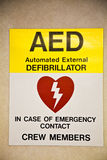 Sign Defibrillator Royalty Free Stock Photo