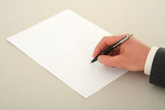 Sign del contratto Immagine Stock
