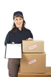 Sign for delivery Royalty Free Stock Photo