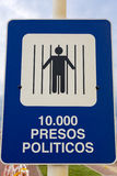 Sign Depicting The Political Situation During The Dictatorship I Royalty Free Stock Photos