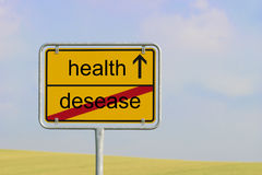 Sign desease health Stock Photography