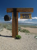 Sign in desert. Sign for mono lake in california desert Stock Images