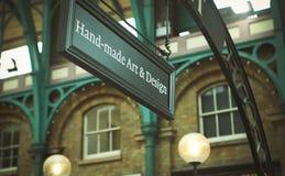 Sign Design Handmade Arts Stock Image