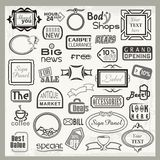 Sign Designs and Banner Headers Set Royalty Free Stock Image