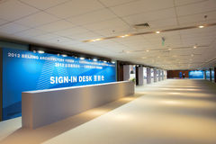 Sign-in desk Royalty Free Stock Photography
