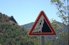 Sign di traffico della Corsica Francia immagine stock libera da diritti