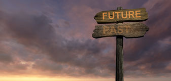 Sign direction  Future-Past Stock Images