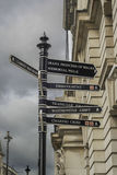 Directions to landmarks in London Stock Photos