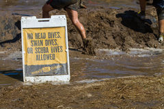 Sign at the Dirty Dash Royalty Free Stock Photo