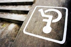 Sign disabilities Stock Photo