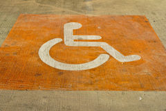 Sign disabilities Stock Photo