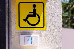 Sign of disability and the call button royalty free stock photography