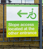 Sign for disable people. Stock Photography