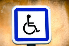 Sign for disabled Royalty Free Stock Photography