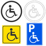 Sign of the disabled Stock Image