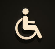 Sign disabled icon isolated on black. Royalty Free Stock Photos