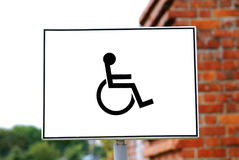 Sign for disabled parking Royalty Free Stock Image