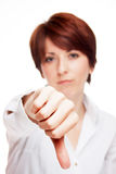 Sign of disapproving Stock Photography