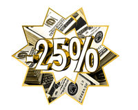 Sign Discount 25 percent sign Stock Photography
