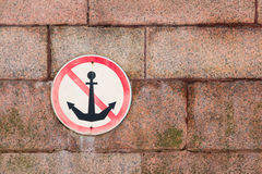 Sign Do not throw anchors Royalty Free Stock Images