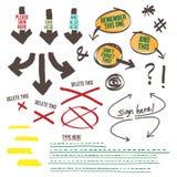 Sign Document Reminder Design Elements Stock Images