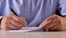 Sign document. Royalty Free Stock Photo