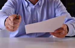 Sign document. Royalty Free Stock Photos