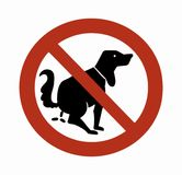 Sign Dog 01 Royalty Free Stock Photos