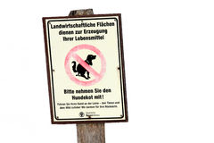 Sign for dog holders Royalty Free Stock Image