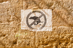 Sign dog signal illegal excrement Stock Photos