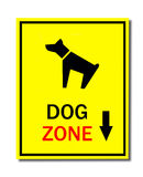 Sign of dog zone Royalty Free Stock Image