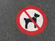 Sign dogs Royalty Free Stock Photography