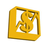 Sign of dollar. Dollar icon, sign, button on white background Royalty Free Stock Photography