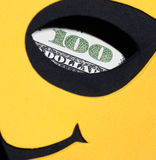 Sign of dollar looking through the orifice in a mask Royalty Free Stock Image