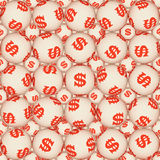 Sign dollar, seamless texture Stock Image