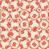 Sign dollar, seamless texture Stock Image