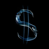 Sign of dollar from a smoky alphabet Stock Photos