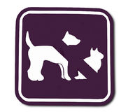 The Sign of domestic animal prohibited Stock Images