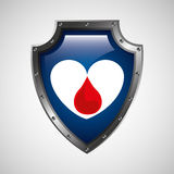 sign donation blood heart donor icon Royalty Free Stock Photography