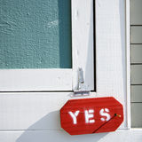 Sign on door. Royalty Free Stock Images