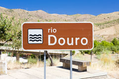 Sign of Douro river. Douro Valley, Portugal Royalty Free Stock Photo