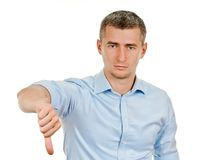 man thumbs down Royalty Free Stock Photos