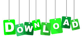 Sign download. This is green sign download Royalty Free Stock Images