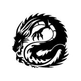 The sign of the dragon. Stock Images