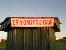 Sign for Drinking Fountain. Sign indicating a drinking fountain Stock Image