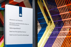 Sign at the Dutch Ministry of Finance, Ministry of Interior and Stock Photos