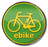 Sign e-bike Royalty Free Stock Photos