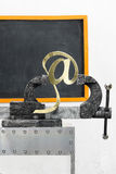 Sign of e-mail in grip Royalty Free Stock Image