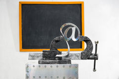 Sign of e-mail in grip Royalty Free Stock Photo